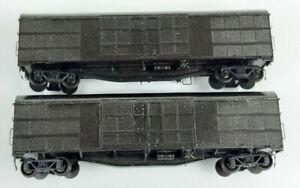 NSWGR BOGIE LOUVRE VANS X 2 KIT-BUILT NEED COUPLERS GOOD COND UNBOXED HO(VH)