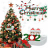 2020 Family Snow Santa Christmas Home Party Decorations Hanging Ornaments Gifts