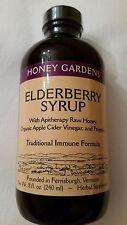 Honey Garden Elderberry Syrup with Apitherapy Organic Apple Cider Vinegar  8 oz