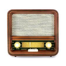 Fuse Real Wood Exterior Vintage Retro Bluetooth, AM/FM Radio, Speaker