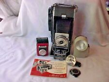 Vintage Polaroid 110A Land Camera With Book, Winklight and Light Meter