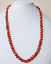 """Edelsteinkette Rot Achat Collier 6,5 - 8 mm Perlen  58cm Halskette """" True Gems """""""