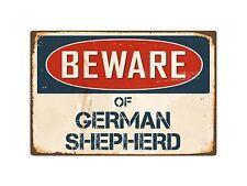 "Beware Of German Shepherd 8"" x 12"" Vintage Aluminum Retro Metal Sign VS181"