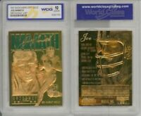 1997 FOOTBALL NFL JOE NAMATH NEW YORK JETS 23K GOLD CARD - GEM-MINT 10 LIMITED