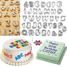 Alphabet Letter & Number Fondant Icing Cutter Set 37 Piece Cake Decorating Mould