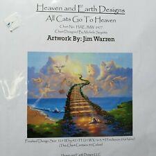 Heaven & Earth Designs Cross Stitch Pattern All Cats Go To Heaven Jim Warren NIP