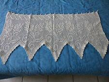 1 RIDEAU / BRISE VUE ANCIEN au crochet d'art  98 cm/ 49,5cm