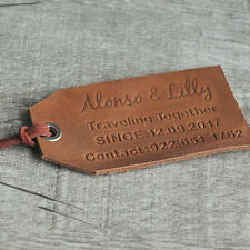 Travel Gift for Lover Personalized Leather Luggage Tags Hand made Luggage Tags