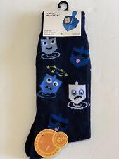 Holiday Hanukkah Christmas Funky Socks Men's Dress Casual Novelty Crew Socks