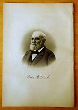 AMOS BINNEY FRENCH Lowell, Massachusetts MA Steel Engraving Portrait 1890