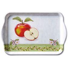 """Ambiente Tablett """"Apple Blossom"""" Apfel rot Blüte rosa weiß grün Äpfel 13x21 Mela"""