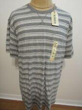 OUTDOOR LIFE, MEN'S NEW Gray Cotton Striped Short Sleeved Shirt W/Pkt, Size XXL