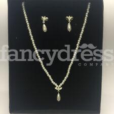 Jewellery Prom Wedding Gift Ne Pearl Diamante Teardrop Necklace Earrings Costume