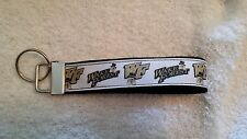 Handcrafted Ncaa Wake Forest University Demon Deacon Key Chain Wristlet
