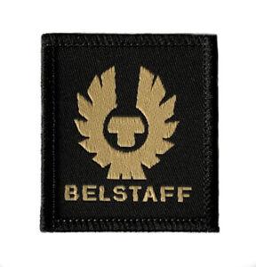 Belstaff Logo Patch (65mm) High Quality Woven Iron/Sew-on Badge Biker Hat Jacket