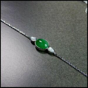 【KOOJADE】Icy Emerald  Green Jadeite Jade Bracelets《Grade A》