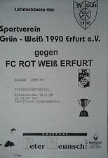 Programm 30.6.1999 Grün Weiß 1990 Erfurt - RW Erfurt