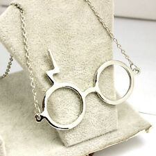 Harry Potter Silver Alloy Glasses Pendant Necklace Hot Movie Necklace Jewelry