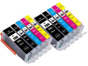 10PK  XXL Ink Cartridges for Canon Pixma PGI 280 CLI 281 TR7520 TR8520 TS6320