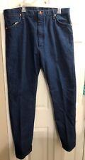 Vintage Mens New NWOT Wrangler 38X34 Cotton Medium Blue Jeans Made in USA