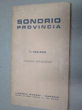 vecchia cartina pieghevole mappa geografica provincia di SONDRIO 1 125.000 scala