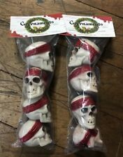 Pirate Skull Christmas Mini Ornaments Eight Pack Pirates Of The Caribbean