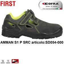SCARPE ANTINFORTUNISTICA COFRA AMMAN S1 P SRC chiusura con velcro sandalo pelle
