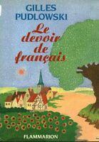 Livre le devoir de Français Gilles Pudlowski book