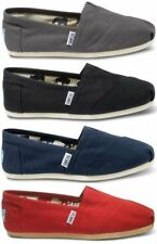 New Authentic TOMS Women's CLASSIC Solid Canvas Slip on Flats Shoes
