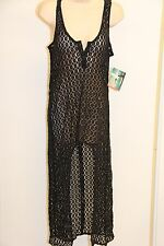 New Roxy Swimsuit Bikini Cover Up Dress Size S Golden Maze Black