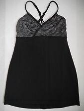 LULULEMON Embrace Tank black and gray yoga top size 6 WORN ONCE