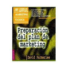 Preparacion Del Plan de Marketing by David Parmerlee (1999, Paperback)