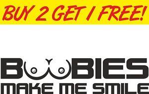 BOOBIES window Car Vinyl Sticker  Funny novelty joke