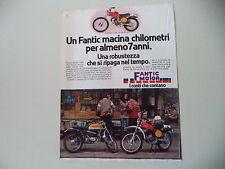 advertising Pubblicità 1978 MOTO FANTIC CABALLERO CASA TX-190 50