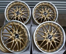 "ALLOY WHEELS X 4 FOR BMW MINI CABRIO JOHN COOPER WORKS COUPE 4X100 18"" GOLD 190"
