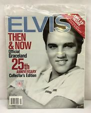 ELVIS Then & Now Graceland 25th Anniversary Collectors Edition w/ CD NEW SEALED