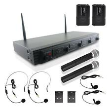 NEW Pyle PDWM4540 UHF Wireless Microphone System Handheld  Lavalier & Headsets