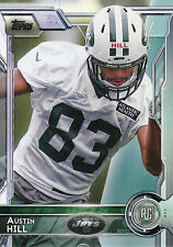 2015 TOPPS ROOKIE RC #484 AUSTIN HILL JETS *7123