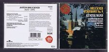 BRUCKNER CD SYMPHONY 9/ GUNTER WAND/ LIVE RECORDING