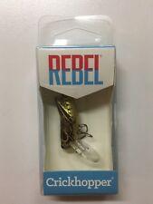 "Rebel Crickhopper Crankbait 1-1/2"" Dual Hook Fishing Lure Bait Brown NEW IN BOX"