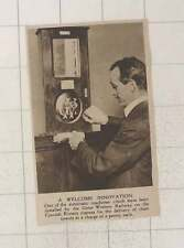 1920 Gwr Cornish Riviera Automatic Machine Dispenses Clean Towels
