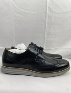 Cole Haan ØriginalGrand Wingtip Oxford Black/Gray Mens Size 10.5 Shoes