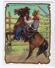 Hassan Cigarettes Cowboy Series T53 Hurdling the Corral 325