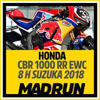 Kit Adesivi Honda CBR 1000 RR EWC 8 Ore Suzuka 2018 - HRC - High Quality Decals