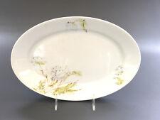 Antique Cook & Hancock Semi-Granite serving platter 1880's white flowers