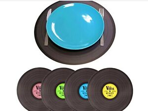 Record placemats, set of 4