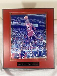 Michael Jordan Chicago Bulls 1988 Dunk Championship Autographed Signed Framed