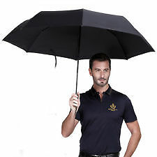 7 Elephants Branded Unisex 3 Fold Compact Umbrella Manual Open Blackcolor(N1052)