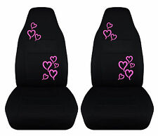 set of cute hearts  pink/red/purple/green front car seat covers,choose color