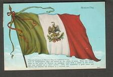 unmailed post card with stamp Mexico Mexican Flag C T Photochrom